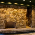 Fireplace and stonework in the Durango Residence