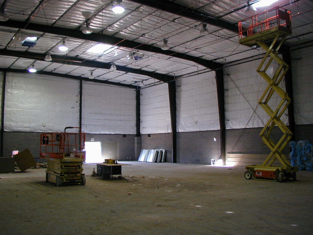 NWCA interior during construction